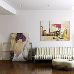 Modern Room with Artwork II (focused)