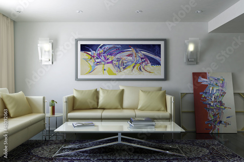 Modern Room with Artwork II