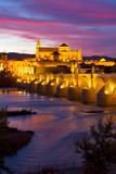 cathedral (Mezquita) of Cordoba at night, Spain