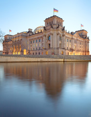The Reichstag building (Bundestag), famous landmark in Berlin