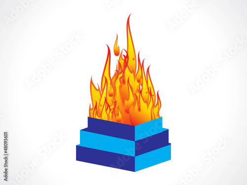 abstract indian flame burner