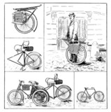 Inventions : Bikes vintage - end 19th century poster