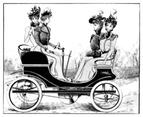 Automobile Japy - end 19th century