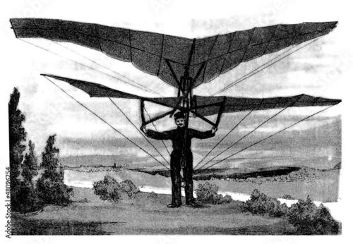 Leinwanddruck Bild Invention : Aeroplane - end 19th century
