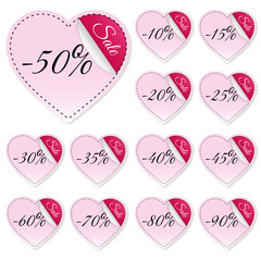 Sticker - Button - Sale - Herz - Valentin