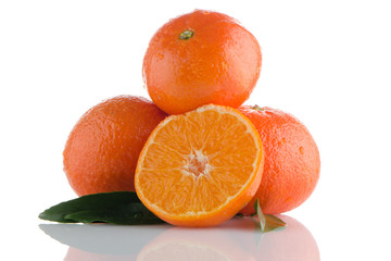 Fresh orange mandarins