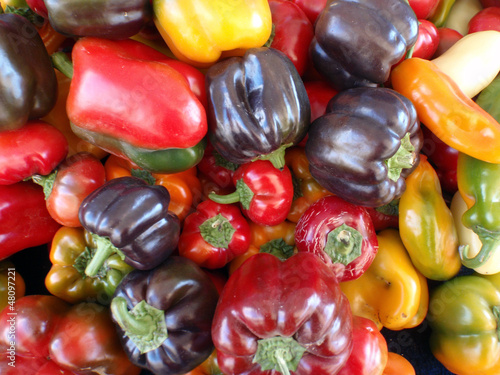 Color assortment of peppers