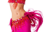 Fototapety Belly Dancer in a Hot Pink Costume Shaking her Hips