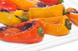 roasted sweet bite peppers of different colors
