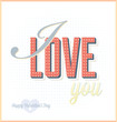 Vintage I Love You Card or Background
