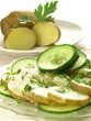 Potatoes with cucumber