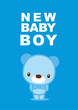 message card new baby boy 005