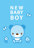 message card new baby boy 003