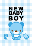 message card new baby boy 002