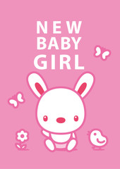 message card new baby girl 003