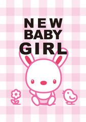 message card new baby girl 002