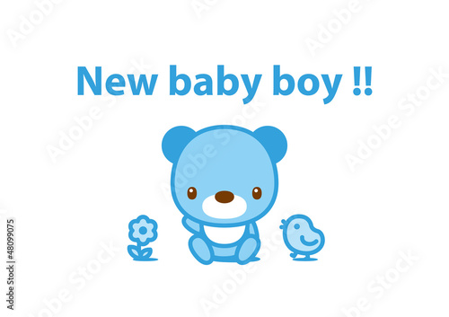 message card new baby boy 001