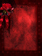 Ciemne gotyckie tło z różą i wstążką