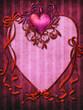 Gotycka ramka z sercem