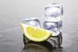 ghiaccio con limone