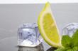ghiaccio con limone e menta