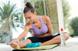Woman Fitness Exercising