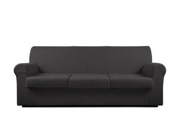 divano grigio in fondo bianco