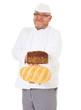 Bäcker hält zwei Brote