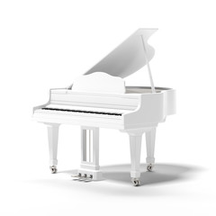 White classic grand piano