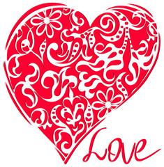 Heart . Valentine s Day background
