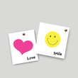 Post it smile and love
