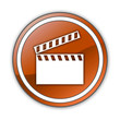 "Orange Glossy Button ""Clapperboard"""