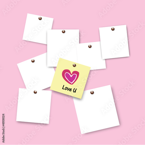 Post it of love