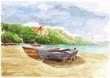 Quadro watercolor day