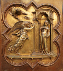 Annunciation  by Lorenzo Ghiberti, Florence