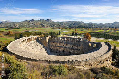 canvas print picture Roman amphitheatre of Aspendos