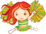 Red haired cheer leader