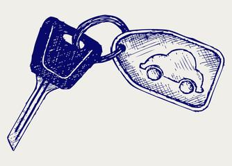 Car keys. Doodle style