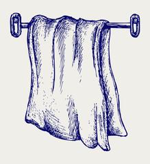 Kitchen towel. Doodle style
