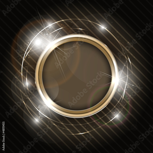 Abstract golden background with copyspace