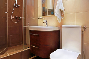 Brown bathroom small