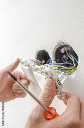 Light switch installation