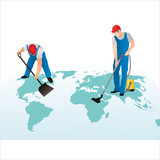 Two professional cleaners on the world`s map