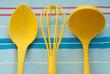 Yellow kitchen tools
