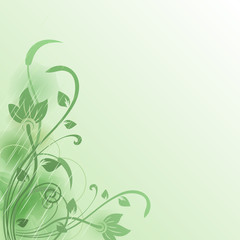 Abstract flower green vector background