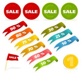 Set of a sales labels