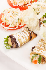 vegetables stuffed with cottage cheese