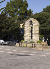 Bell tower in Charming Town of Carmel Monterey USA