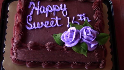 Sixteenth Birthday Cake