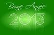 Bonne Année 2013 Disco Vert